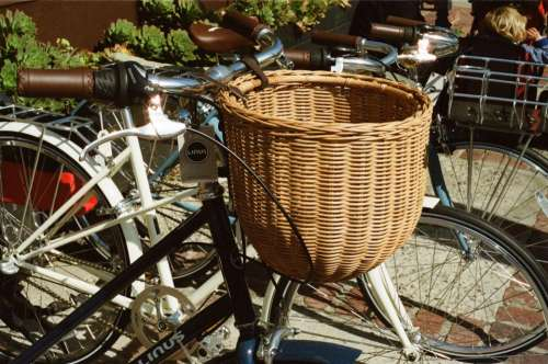 bikes bicycles basket handlebars tires