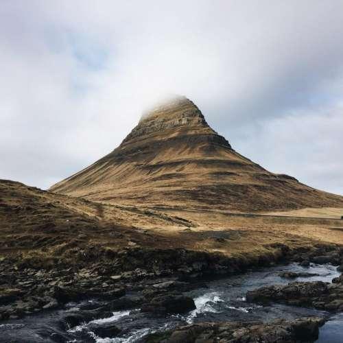 rock formation landscape peak view