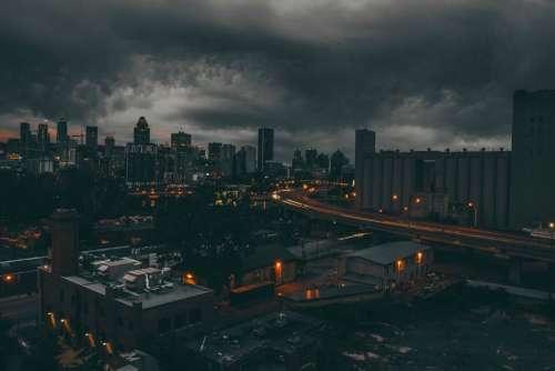 architecture building infrastructure city dark