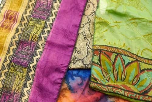 sari fabric background silk indian