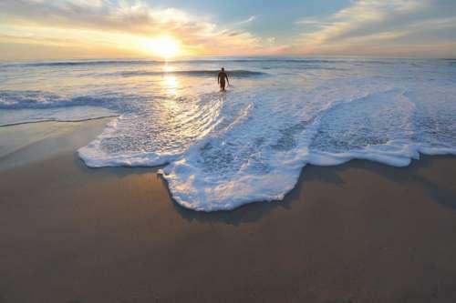 nature beach shore sand water
