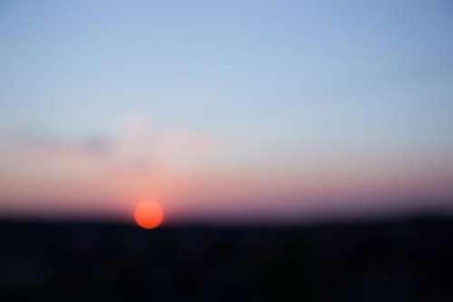 sky sunset sun bokeh blur
