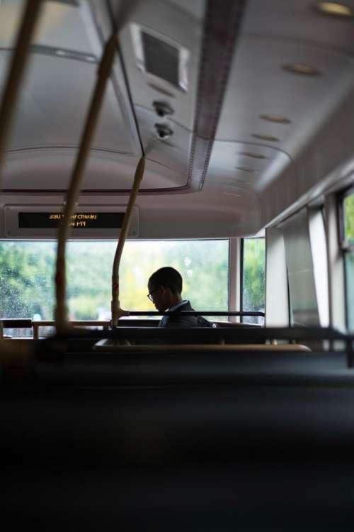 bus vehicle seats transportation travel