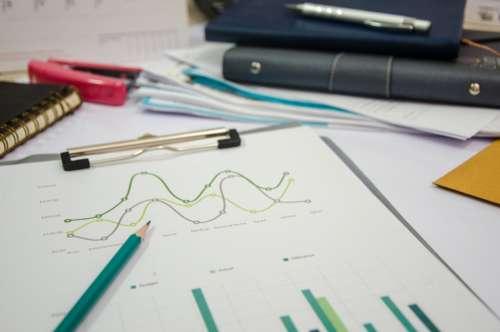 data chart graph pen notepad