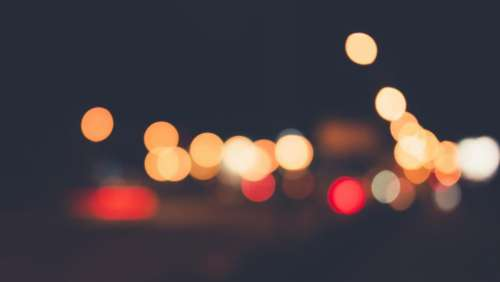 blurry lights night dark evening
