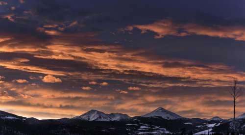 mountain highland snow winter landscape