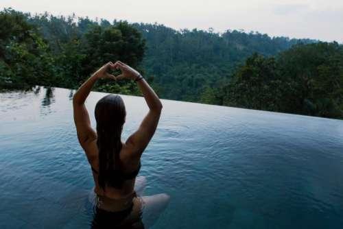 people girl woman alone meditation