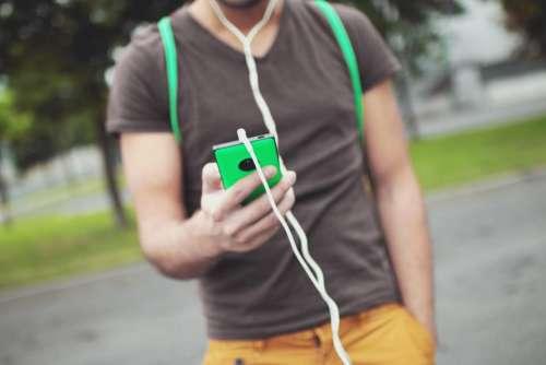 smartphone mobile headphones audio music