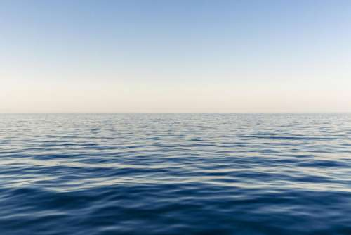 ocean sea water horizon blue
