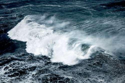 nature water crashing waves ocean