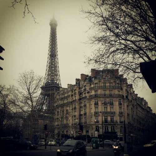 eiffel tower buildings paris france city