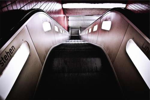 escalator subway station