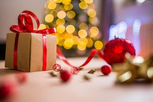 christmas celebration holiday red ribbon