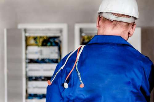 electrician electricity wires cables worker
