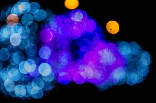 bokeh light dark night