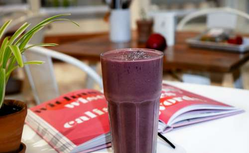 healthy fruit drink purple book