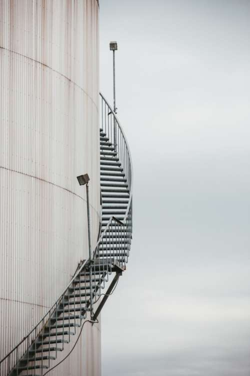 industrial tank staircase oil stairs