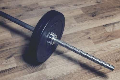 weights fitness barbell dumbbells hardwood