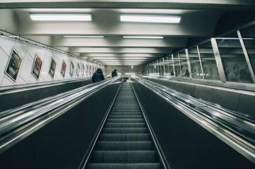 infrastructure escalator building establishment dark