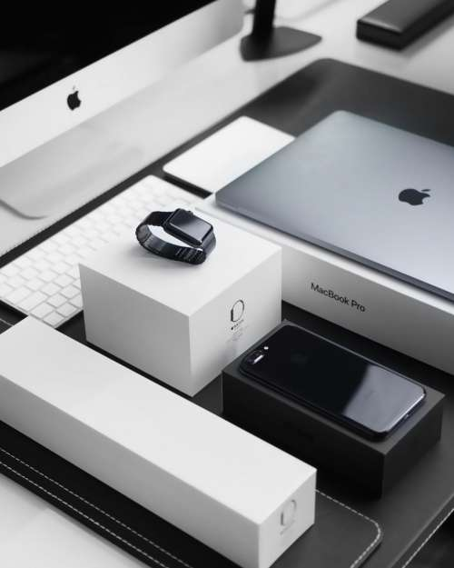 black and white iphone apple product business