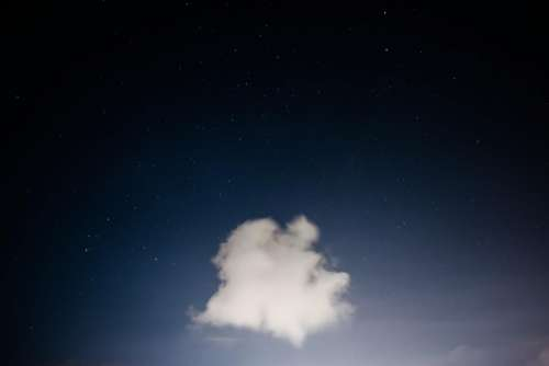 blue sky clouds stars night