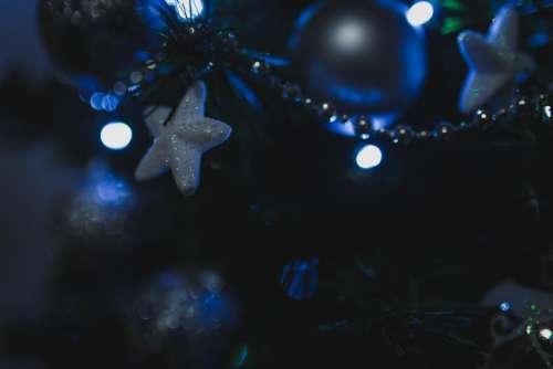 christmas tree lights stars decorations