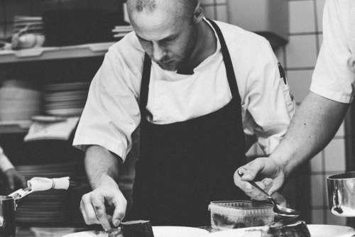 people man chef prepare food