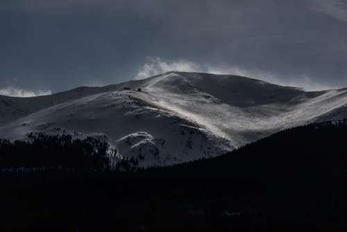 mountain highland dark cloud sky