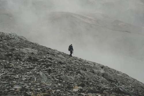 rocks mountain landscape sky adventure