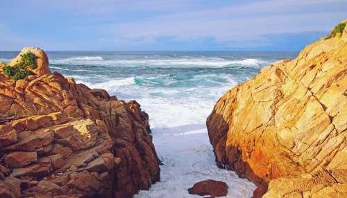 California ocean sea waves shore
