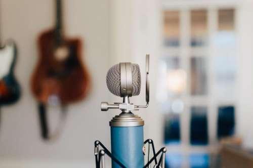 microphone condenser blue recorder filter