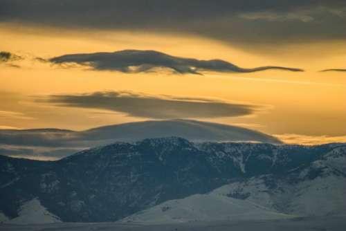 mountain highland cloud sky summit