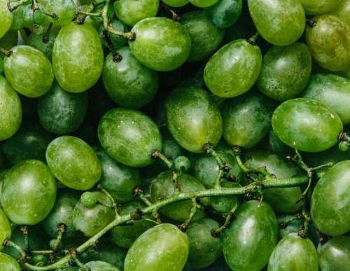 green grapes fruits food healthy