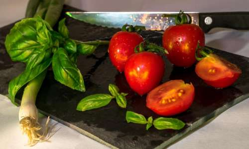 ingredients food cook tomato knife