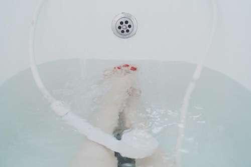 bath tub water bathroom shower