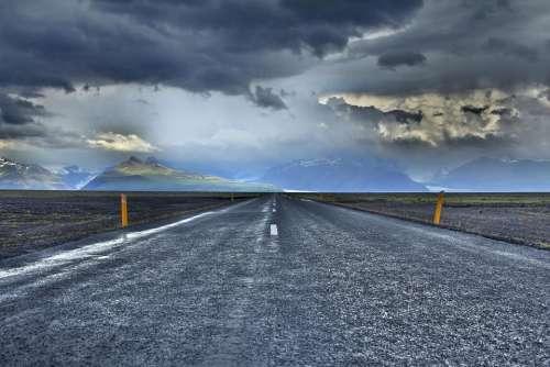 road travel adventure clouds sky