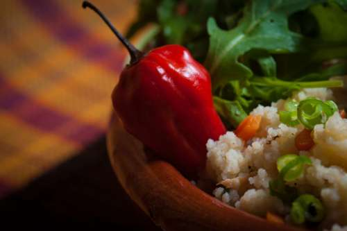 bell pepper ingredient spices rice green