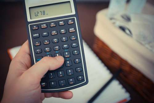 calculator math finance school education