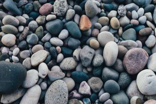 stone pebbles rocks shore