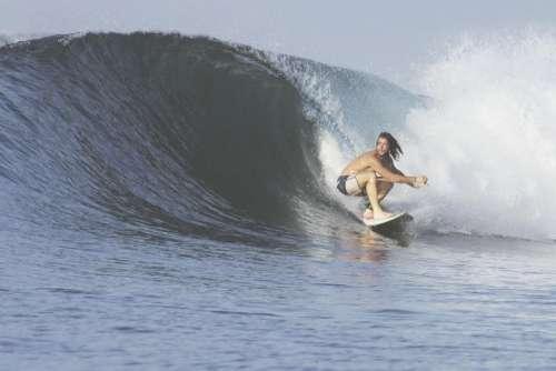 people man surf waves ocean