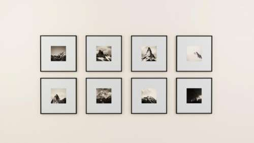 wall picture frame display interior design