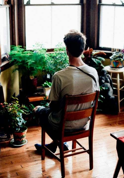 house interior floor wood chair