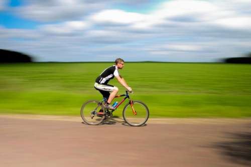 cyclist bike bicycle riding road