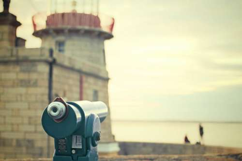 tower viewer telescope binoculars lens view