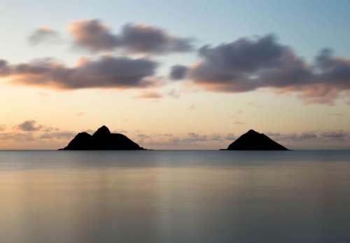mountain highland island landscape silhouette