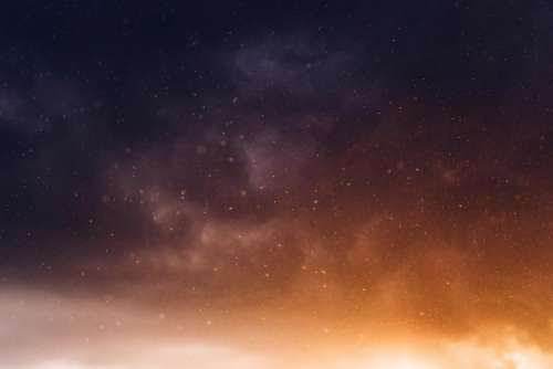 stars sky night evening galaxy