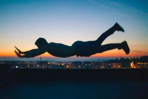 people man jump silhouette shadow