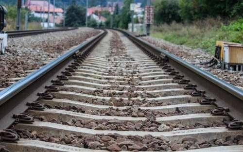 railroad railway train tracks transportation