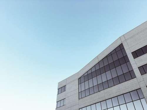 blue sky building windows architecture