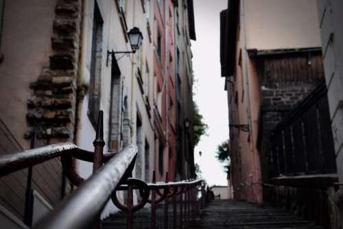 urban lyon stairs old staircase